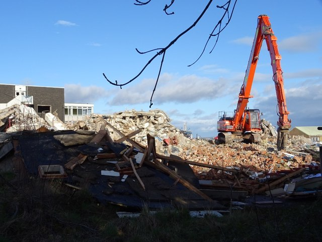Demolition work on former Qinetiq site - 13 February