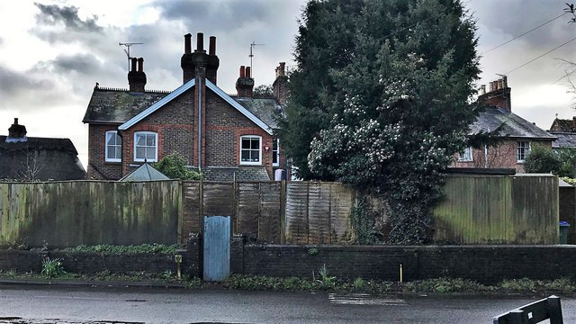 Rear view of houses on Church Terrace, Henfield