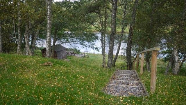 Fishing hut opposite Boat of Garten