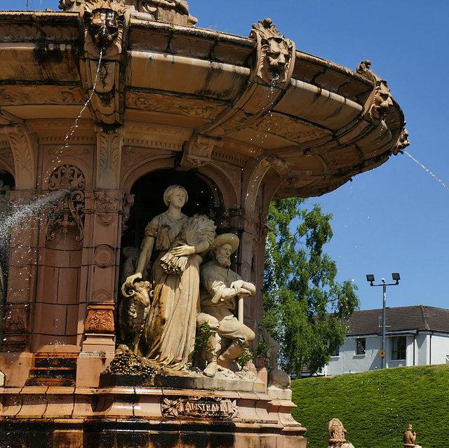 The Doulton Fountain, Glasgow Green - detail