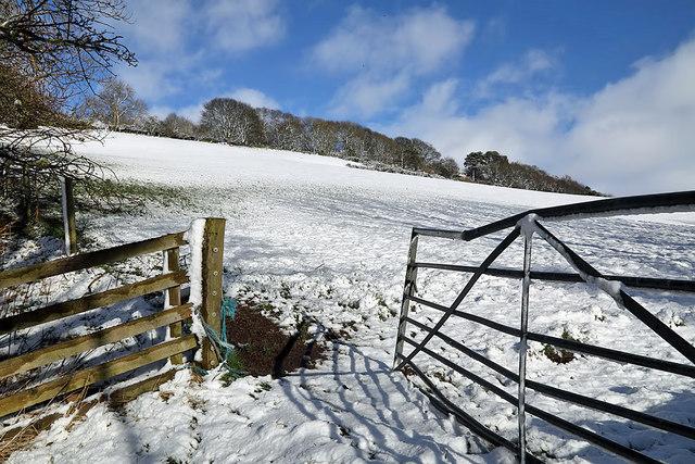 Winter farmland on Blaikie's Hill