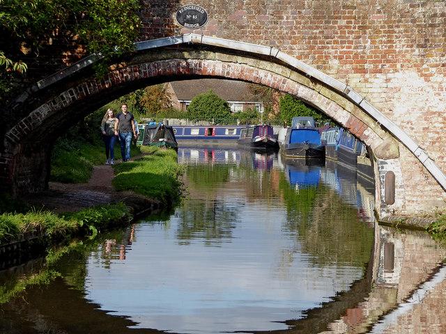 Canal at Princefield Bridge in Penkridge, Staffordshire