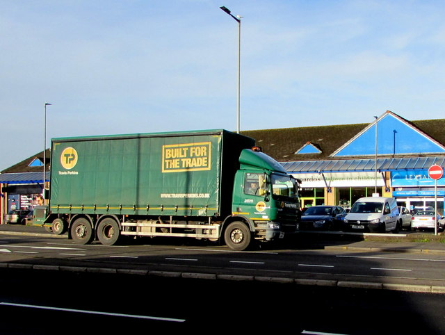 Travis Perkins lorry, Malpas Road, Newport