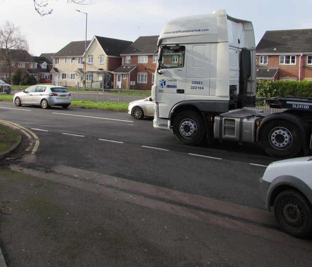 Cardiff Container Link tractor unit, Malpas Road, Newport