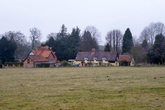 Houses off Church Lane, Goodworth Clatford