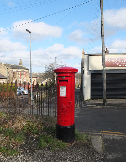 Post box at the junction of Moor Lane and Oxford Road, Gomersal