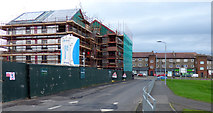 NS3373 : New flats under construction at Dubbs Place by Thomas Nugent