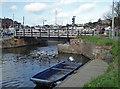 SX9291 : New swing bridge, Exeter by Chris Allen