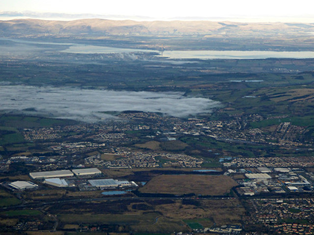Blackburn and Bathgate from the air