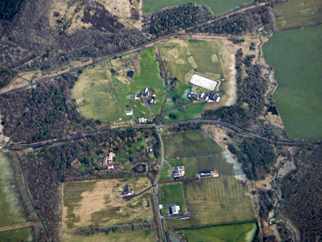 Bickerton Crofts from the air