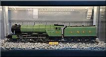 NT9953 : A model train at Berwick Railway Station by Walter Baxter