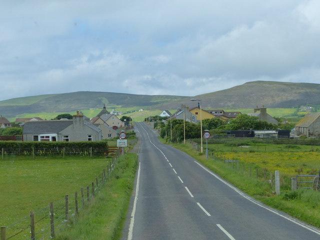 Approaching Orphir Village, Orkney