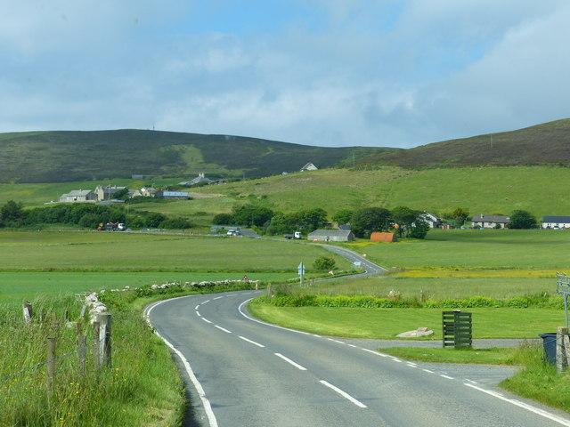 Scene on the A964 in the Orphir area, Orkney