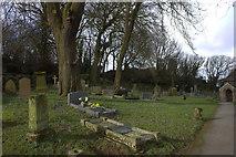SD4161 : Graveyard at St Peters Church, Lower Heysham by Robert Eva