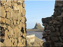 NU1341 : Lindisfarne Castle from ruined Watch Tower by Les Hull