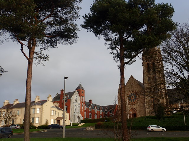 Presbytery and convent buildings at St Patrick's Catholic Church, Downpatrick