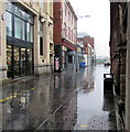 ST3188 : Rainy Market Street, Newport by Jaggery