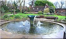 TQ2479 : Fountain in Holland Park by Des Blenkinsopp