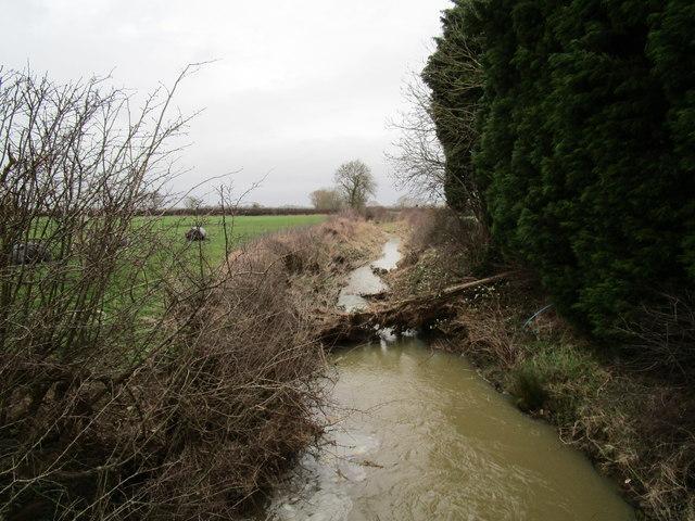 The Wash Dyke near Langar Grange Cottages by Jonathan Thacker