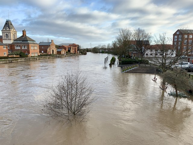 River Trent in flood in Newark