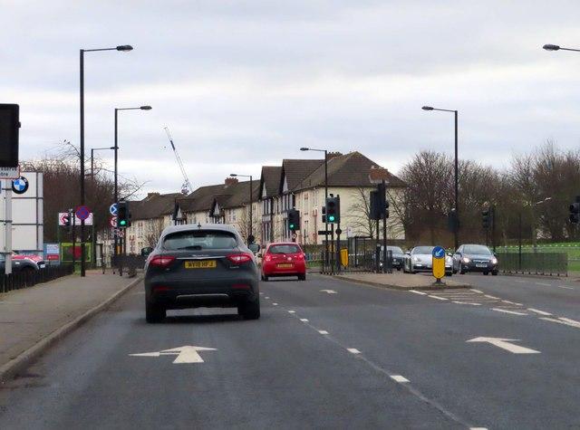 Barrack Road heading into Newcastle
