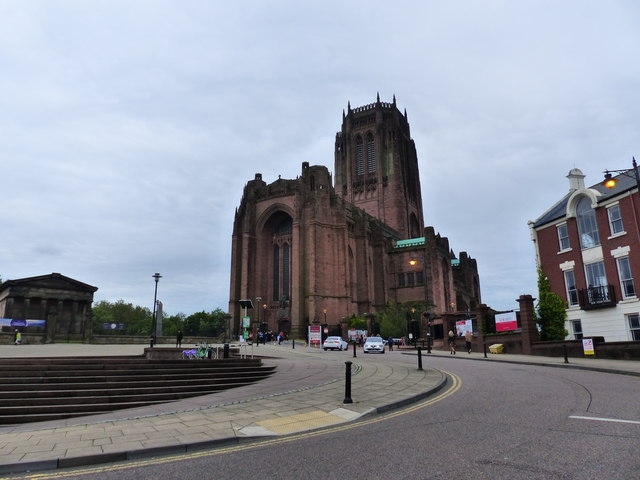 The approach to Liverpool Anglican Cathedral