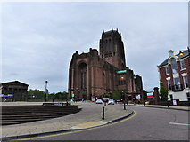 SJ3589 : The approach to Liverpool Anglican Cathedral by Ruth Sharville