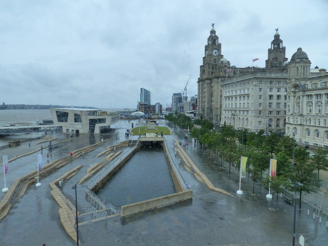 View from inside the Musem of Liverpool, looking towards the Liver Building