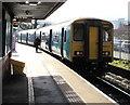 SO0505 : Bridgend train at Merthyr Tydfil railway station by Jaggery