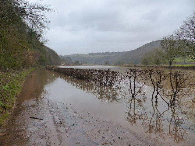 Flood closes road to Whitebrook