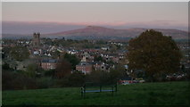 SO5074 : Titterstone Clee Hill (Viewed from Whitcliffe Common at Ludlow) by Fabian Musto