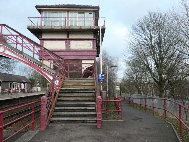 1901 NER signal box, Haltwhistle station