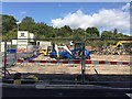 SP2965 : Part of Tesco's car park is being dug up for something, Warwick by Robin Stott