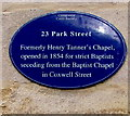SP0202 : Blue plaque, 23 Park Street, Cirencester by Jaggery