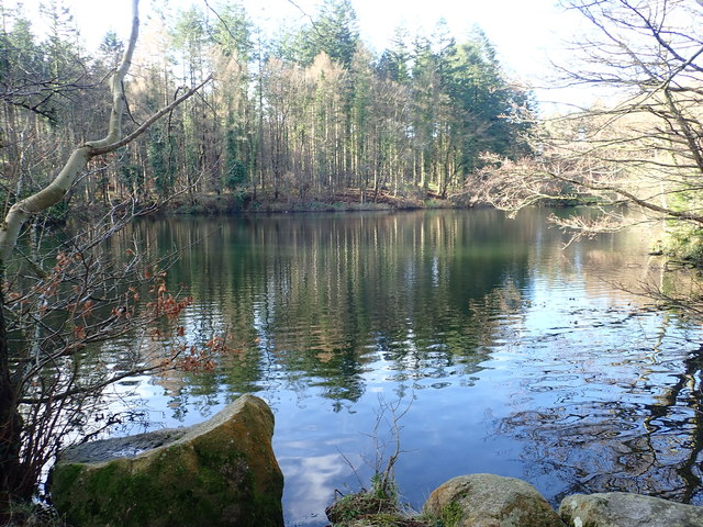 View West across Tollymore Lake