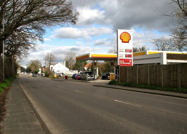 Petrol station on Ipswich Road (A140)