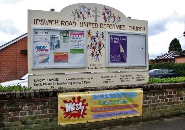 Ipswich Road United Reformed Church (sign)