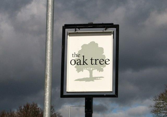 The Oak Tree public house (pub sign)
