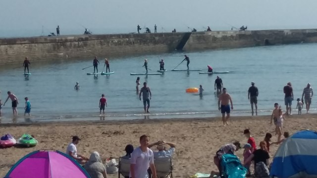 Paddle Boarding at Seaham Harbour