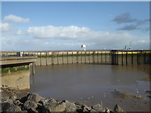 ST1972 : Breakwaters and outer harbour, Penarth by Chris Allen