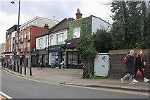 TQ5686 : Shops opposite Upminster Station by David Howard