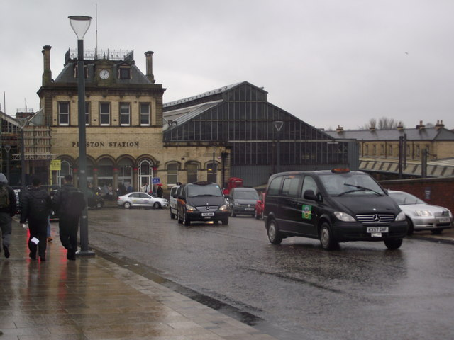 Entrance to Preston station
