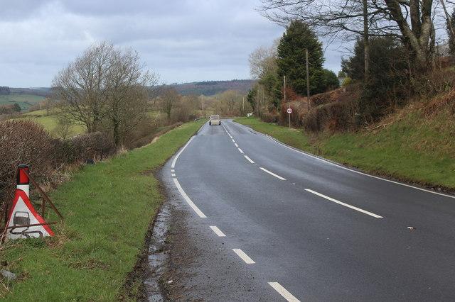 A482 towards Cwmann at Coedeiddig