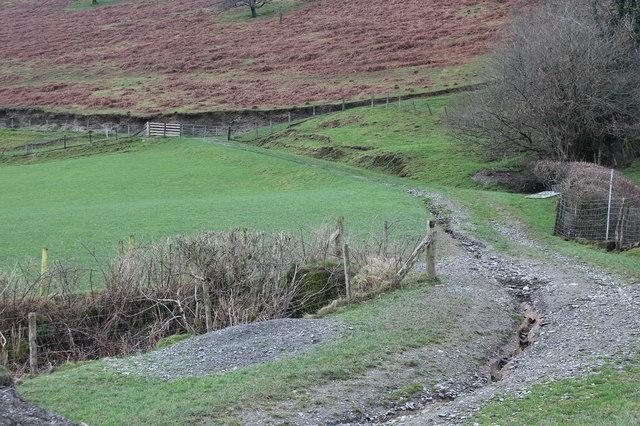 Track on lower slope of Allt Goch