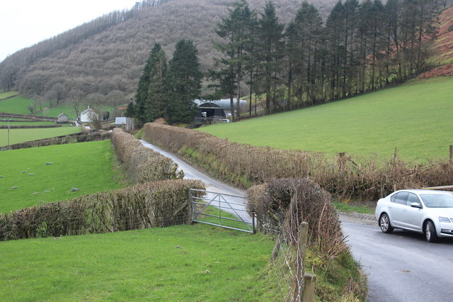 Minor road to Frongoch Farm, Cothi Valley
