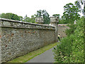 NT5034 : Abbotsford, walled garden by Stephen Craven