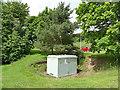 NT5234 : Electrical cabinet, Craw Wood, Tweedbank by Stephen Craven