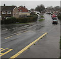 ST3090 : Drenching rain, Rowan Way, Malpas, Newport by Jaggery