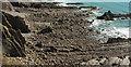 SS1905 : Wave-cut platform below Efford Down by Derek Harper
