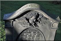 NT2674 : A gravestone at Old Calton Burial Ground, Edinburgh by Walter Baxter